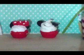 Tuto fimo cupcake Mickey et Mini
