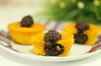Receita: Cupcake de Cenoura recheado com brigadeiro