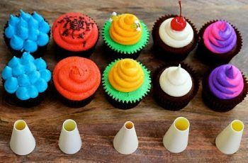 FIVE Cupcake FROSTING Styles Using a ROUND Piping Tip – 5 Top Cupcakes