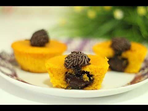 Receita: Cupcake de Cenoura recheado com brigadeiro 1 Vivendo de Brigadeiro