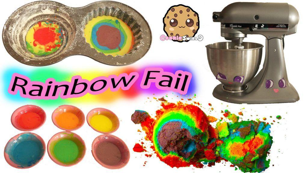 Giant Rainbow Cupcake Fail - Baking My Little Pony Rainbow Dash Birthday Cake 6 Vídeo do Canal CookieSwirlC no Youtube, publicado em 2016-06-01 17:54:08 e com 8173469 views Vivendo de Brigadeiro