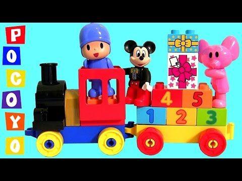 Birthday Cupcake Easter Eggs Surprise for Mickey Mouse & Pocoyo Lego Duplo Toy Train Parade 6 Vídeo do Canal Blu Toys Club Surprise no Youtube, publicado em 2015-08-07 09:05:49 e com 814532 views Vivendo de Brigadeiro