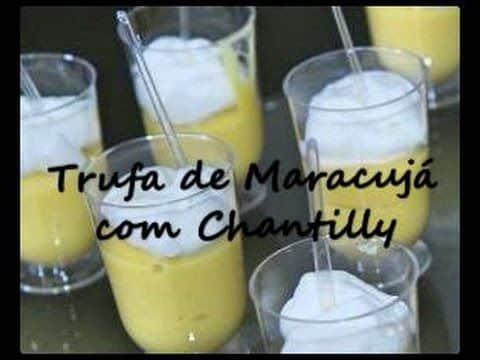 TRUFA DE MARACUJÁ COM CHANTILLY - FABI SILVA 7 Vídeo do Canal Fabi Silva no Youtube, publicado em 2016-11-01 17:25:31 e com 56 views Vivendo de Brigadeiro