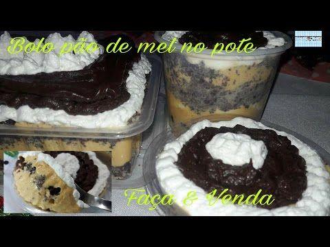 Bolo pão de mel no pote  (faça & venda) 6 Vídeo do Canal Nicia Trufas & Balas Geladas no Youtube, publicado em 2016-04-04 06:55:01 e com 24228 views Vivendo de Brigadeiro