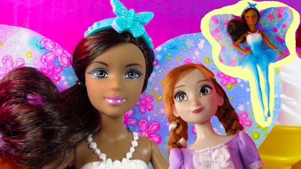 Mini Fairy Barbie Doll Disney Frozen Princess Anna playdoh Cupcake Toy Review Opening 1 Vídeo do Canal CookieSwirlC no Youtube, publicado em 2014-06-26 16:11:05 e com 202176 views Vivendo de Brigadeiro
