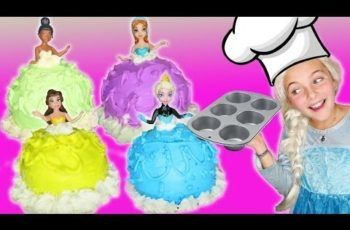 Chef Frozen Elsa How To Make Disney Princess Giant Cupcake Dress Cooking Cake Dress Superheroes IRL
