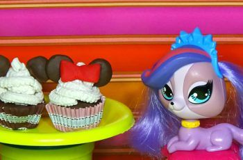 Play-doh cupcake How to make play dough cupcake with Mickey and Minnie Mouse Doll food