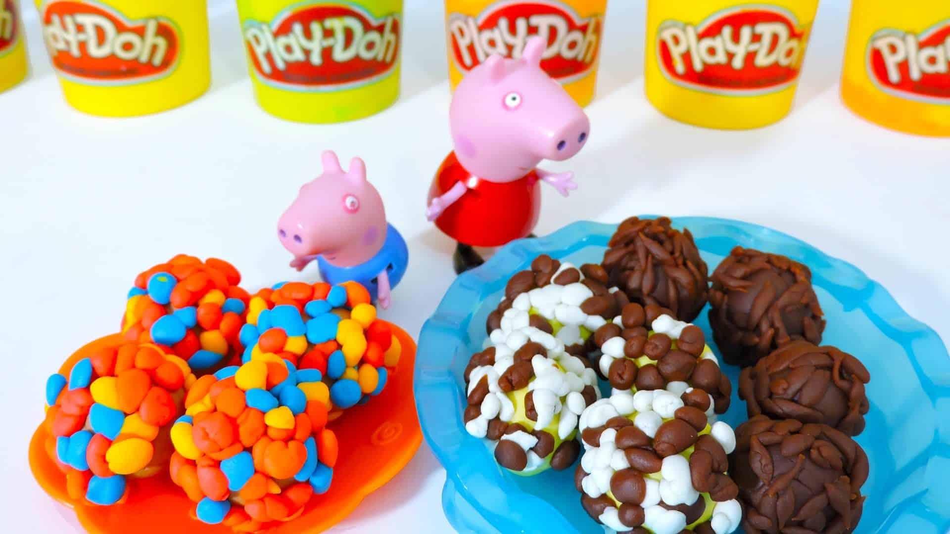 PEPPA PIG GEORGE fazendo BRIGADEIRO e outros DOCINHOS com Massinha Play Doh  para Festa Surpresa!!! - Vivendo de Brigadeiro