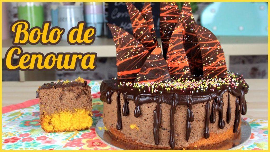 Bolo de Cenoura  Como Fazer Bolo de Cenoura    Bolo de Cenoura Super Fácil   Cakepedia