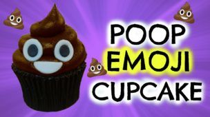 HOW TO MAKE POOP EMOJI CUPCAKE