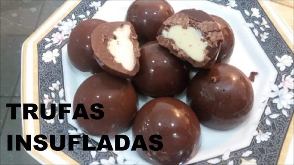 TRUFAS INSUFLADAS COM GANACHE DE CHOCOLATE BRANCO-MAGNÍFICAS /MARIA MAFALDA 1 Quer saber mais das receitas que foram disponibilizadas,  acesse agora Vivendo de Brigadeiro