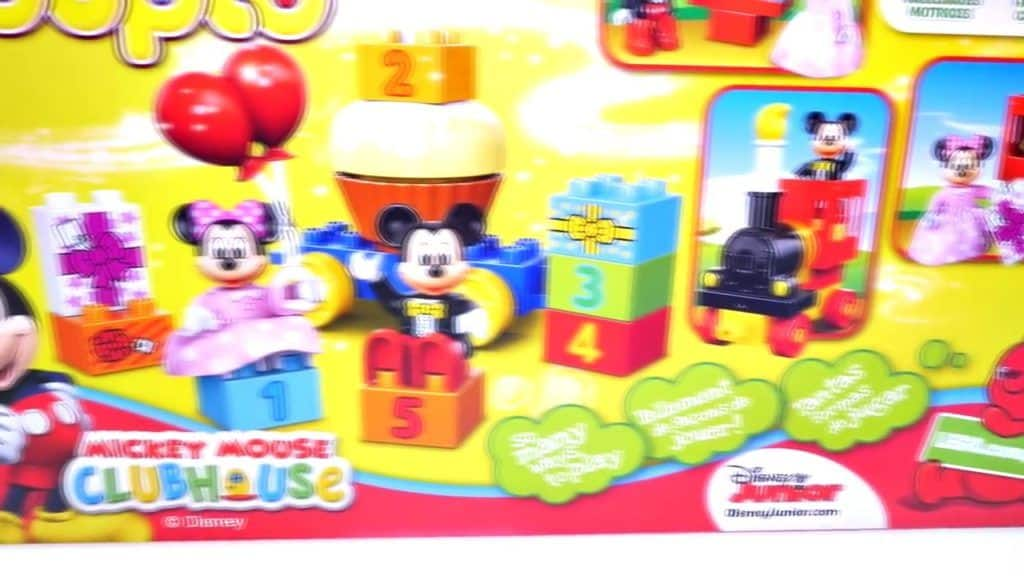 Birthday Cupcake Easter Eggs Surprise for Mickey Mouse & Pocoyo Lego Duplo Toy Train Parad