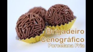BRIGADEIRO CENOGRÁFICO - PORCELANA FRIA - SOSO BISCUIT