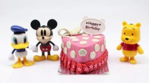 Play Doh Birthday Cupcake Eggs Surprise for Mickey Mouse Clubhouse & Minnie Lego Toy Train