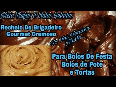 Recheio De Brigadeiro gourmet Cremoso Para Bolos De Festa Bolos De Pote e Tortas.