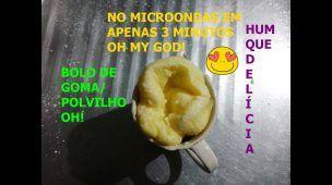 Bolo de GOMA/polvilho de microondas na caneca  - salgado em 3 MINUTOS, MARAVILHOSO!