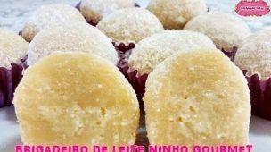 BRIGADEIRO DE LEITE NINHO GOURMET com CozinhandoComNane :)