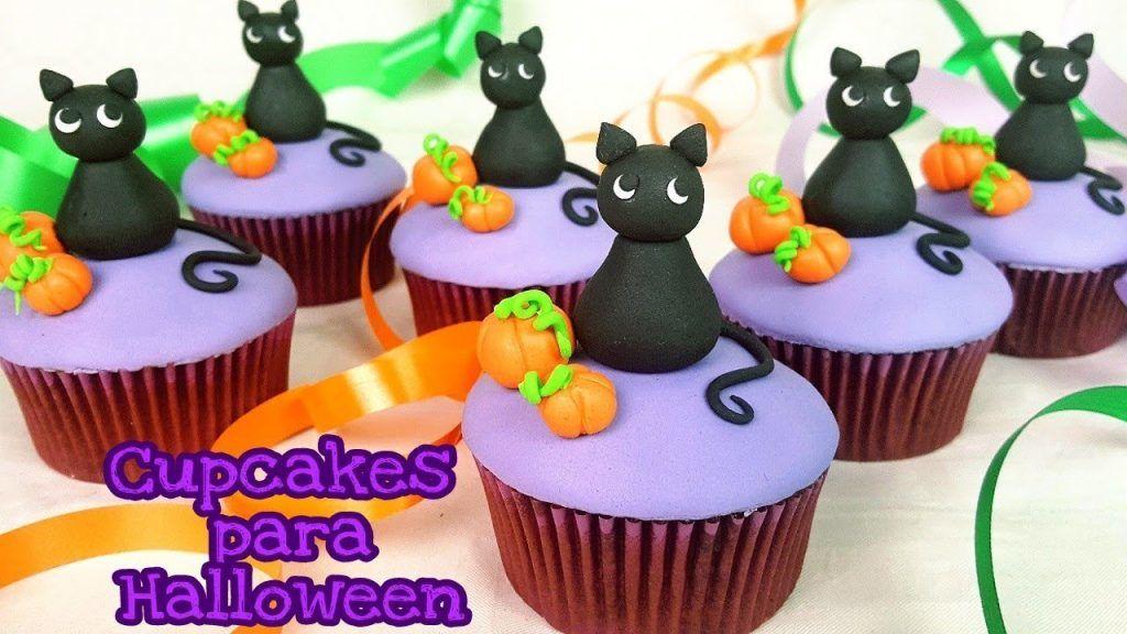 Cupcakes para Halloween de chocolate y nueces | receta y decoración | Mi tarta preferida