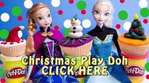 Frozen Christmas Cupcakes Decorations DIY Play Doh Cupcake Playset How To make Playdough Xmas Cakes