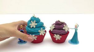 Frozen Cupcake Surprise Elsa Anna Olaf Play Doh Cupcakes with Frozen Toys