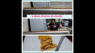 O MAIOR  CHURROS DO MUNDO  MEDINDO 1,60cm/ESPECIAL DE 500 INSCRITOS