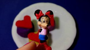 Play Doh Mother's Day Heart Cupcake Surprise Eggs Mickey Mouse Minnie Mouse CARS