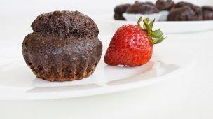 Cupcakes de Chocolate y Linaza 100% Dietéticos Sin Harina