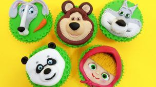 MASHA and The BEAR Cupcakes! How To Decorate by Cakes StepbyStep