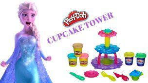 Play Doh Cupcake Tower | Frozen Elsa Play Doh Video