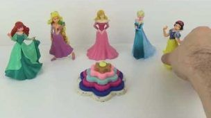 Play Doh Kinder Surprise Eggs DIY Cupcake Disney Princess Frozen Elsa Ariel Anna Rapunzel Cinderell