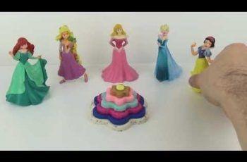 Play Doh Kinder Surprise Eggs DIY Cupcake Disney Princess Frozen Elsa Ariel Anna Rapunzel Cinderell