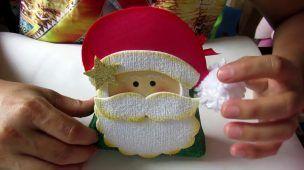 porta doces em e v a tema nata l(Desafio de Natal)