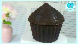 Cupcake Gigante de Chocolate | Receta de Cupcake Gigante de Chocolate Basico 2 | Sweet Maniacs
