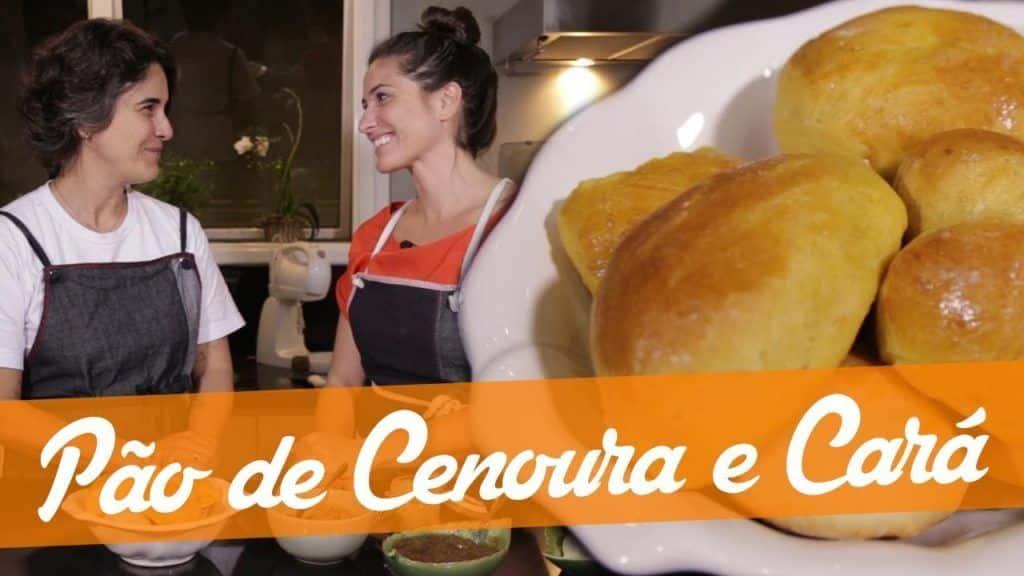 Deliciosos Pães de Cenoura e Cará! Experimente! - Carol Fiorentino