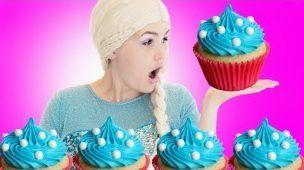 Frozen Elsa Cupcake Challenge!!  Spiderman VS Joker Superhero Fun Kid Movie