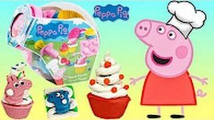Nick Jr  PEPPA PIG Cupcake Decoration Play doh Playset, Chef Bake George, Friends Mold Cutter TUYC