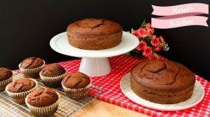 Pastel de Chocolate | Cupcakes de Chocolate | Básicos de Repostería