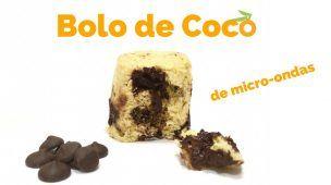 Receita: Como Fazer Bolo de Caneca no Microondas - Coco com Chocolate