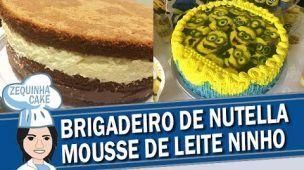 Bolo de Brigadeiro de Nutella & Mousse de Leite Ninho
