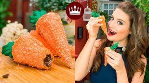 COM CASQUINHA DE SORVETE: CENOURA CROCANTE (RECHEADA C/ CHOCOLATE!) | Cozinha Bom Gosto | Gabi Rossi