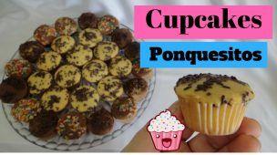 Mini cupcakes de chocolate y vainilla suavecitos esponjosos  fácil ideal para fiestas