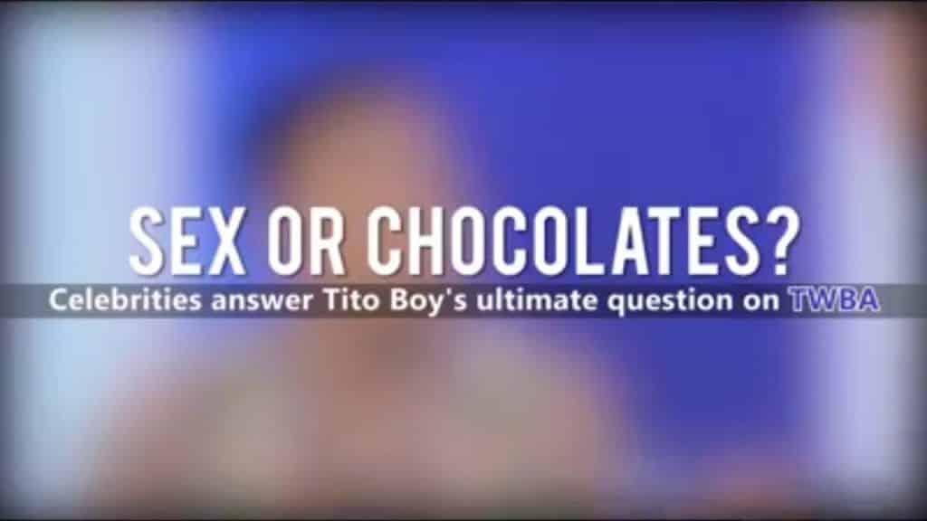Sex or Chocolates? Compilation of TWBA Fast Talk Ultimate Question 3 Tem vontade de assistir mais das receitas já postadas,  clique aqui Vivendo de Brigadeiro