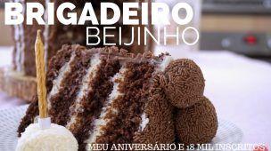 BOLO DE BRIGADEIRO E BEIJINHO (bolo prestígio) e 18 MIL INSCRITOS 🌸 Bellaria Chocolatier