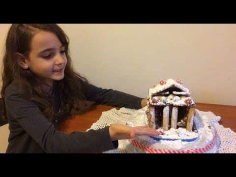 Casinha de doces para o Natal