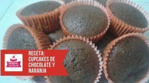 Cupcakes de Chocolate y Naranja, Ricos y Esponjosos