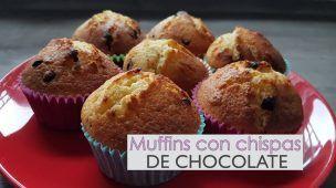 Muffins de vainilla con chispas de chocolate - fácil y rápido