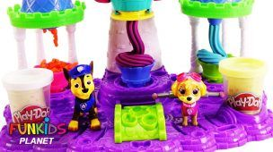 Learn Colors with PAW PATROL Pups Play Doh Ice Cream & CupCakes | Fun Kids Toys