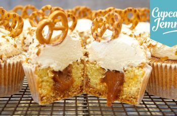 Pretzel & Salted Caramel Cupcakes Collab with The Boy Who Bakes   Cupcake Jemma