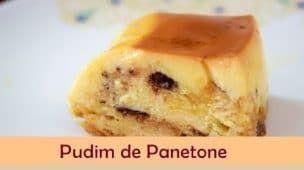 Pudim de Panetone - Receita de pudim de panetone sobremesa de Natal
