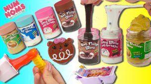 Slime vs Comida Real - Slime de Chocolate y Cupcakes -  Juguetes Num Nom Dippers